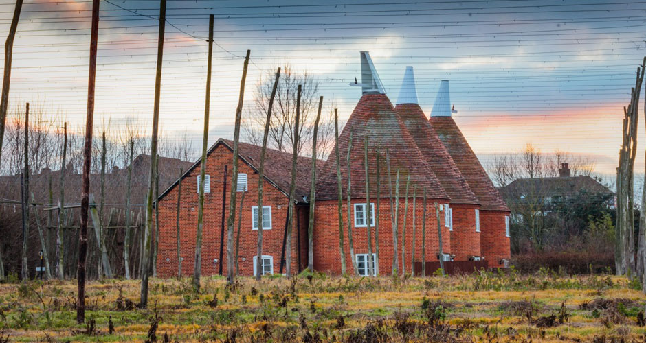 Traditional oast cowl houses