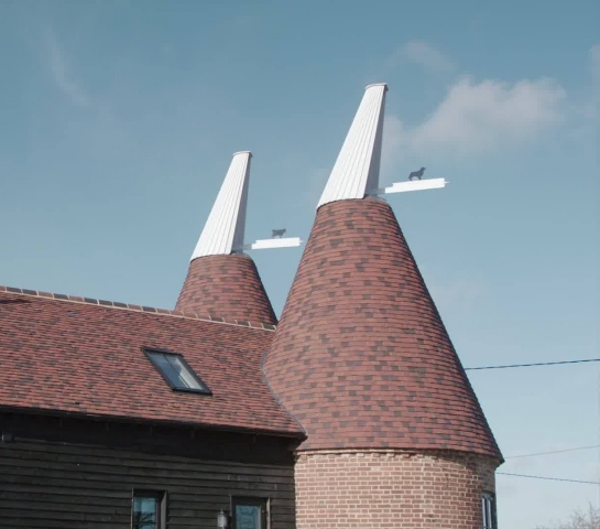 Detail of oast cowl motif in a house