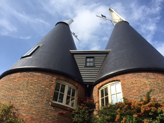 oast houses with round cowls