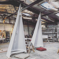 oast cowls built in the warehouse